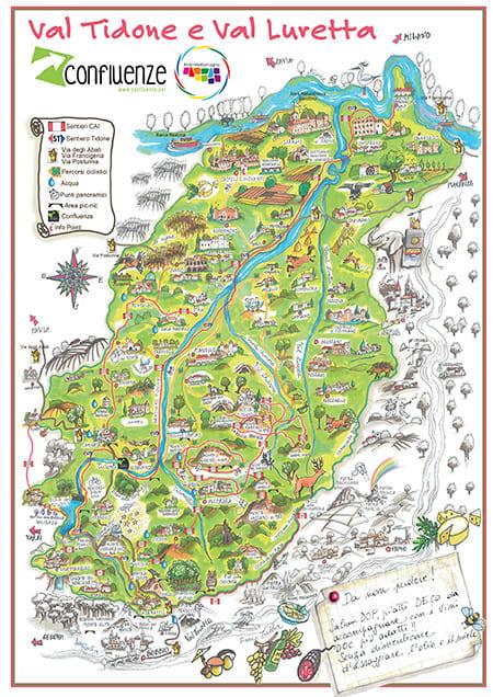 Mappa Val Tidone Val Luretta