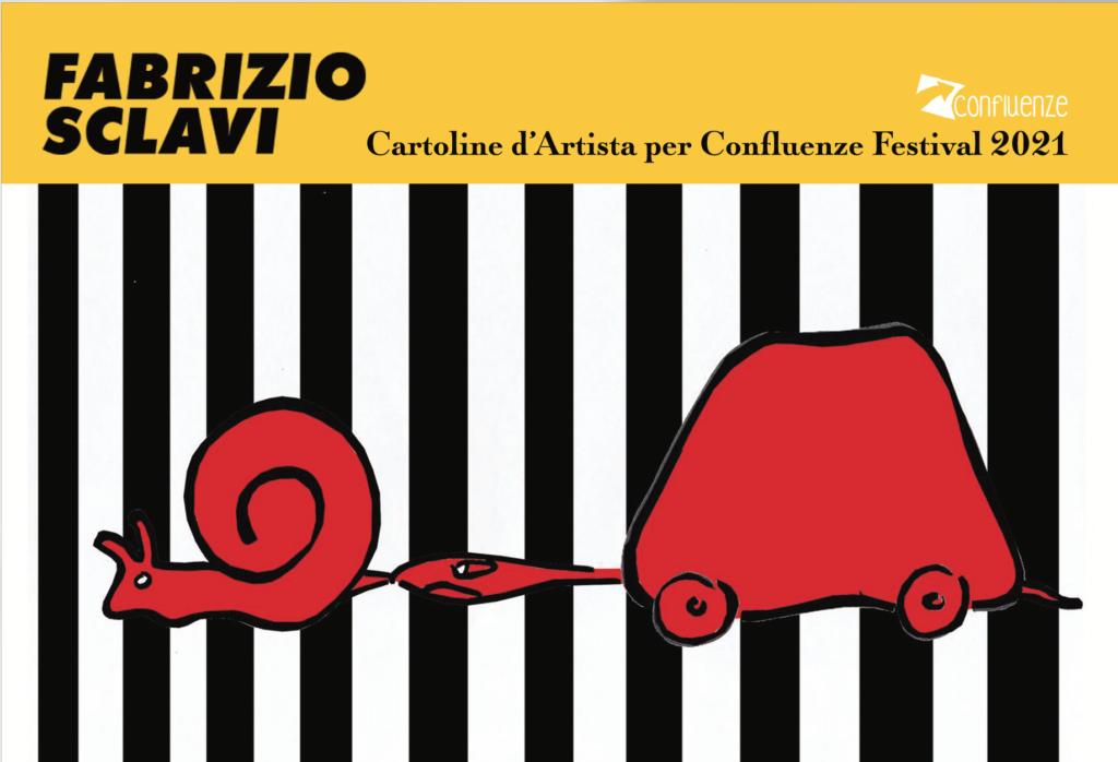Fabrizio Sclavi cartoline d'artista Confluenze